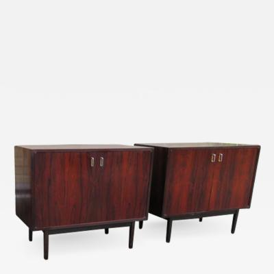 Milo Baughman Magnificent Pair of Rosewood Milo Baughman Founders Bachelors Chest