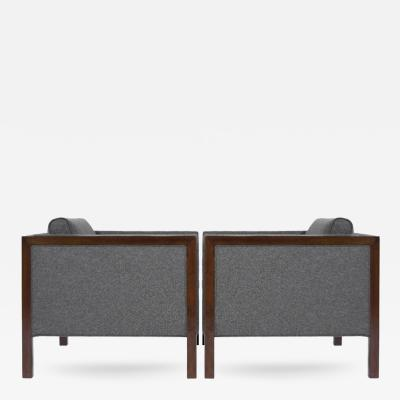 Milo Baughman Mid Century Modern Cube Club Chairs