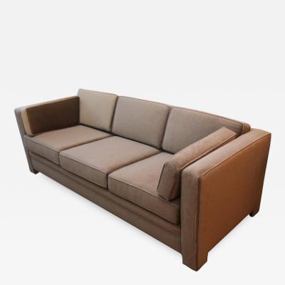 Milo Baughman Mid Century Modern Milo Baughman Style Upholstered in Mohair Tuxedo Sofa