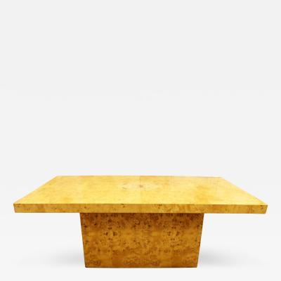 Milo Baughman Mid Century Modern Milo Baughman for Dillingham Burlwood Dining Table 2 Leaves