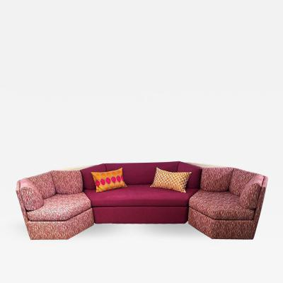 Milo Baughman Mid Century Modern for Thayer Coggin 5 Piece Sectional Sofa