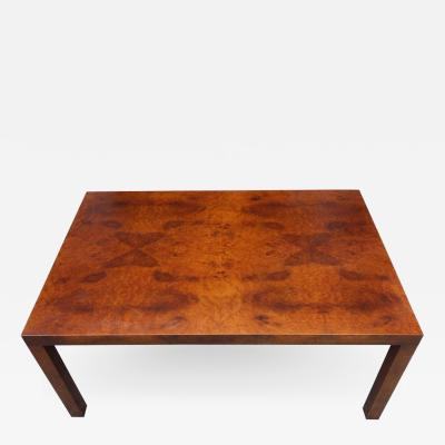 Milo Baughman Midcentury Milo Baughman Burl Wood Coffee Table