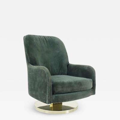 Milo Baughman Milo Baughman Brass Base Swivel Chair