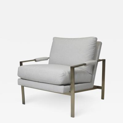 Milo Baughman Milo Baughman Brass Frame Lounge Chairs