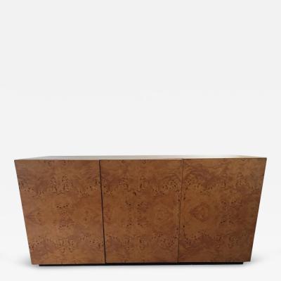 Milo Baughman Milo Baughman Burl Olive Wood Cabinet Sideboard