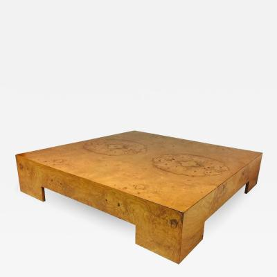 Milo Baughman Milo Baughman Burl Wood Coffee Table