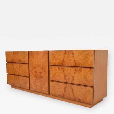 Milo Baughman Milo Baughman Burlwood Dresser by Lane Mid Century Modern