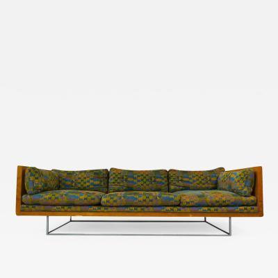 Milo Baughman Milo Baughman Burlwood Floating Sofa