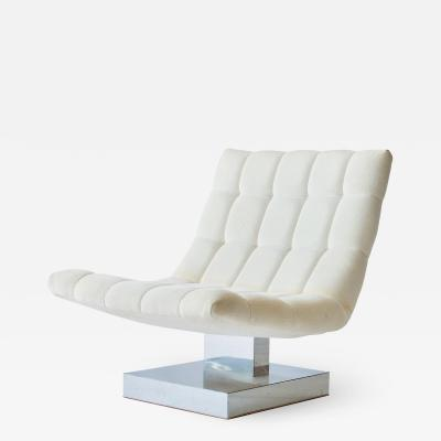 Milo Baughman Milo Baughman Cantilevered Lounge Chair