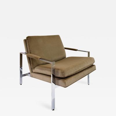 Milo Baughman Milo Baughman Clean Line Lounge Chair in Chrome 1970s