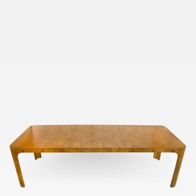 Milo Baughman Milo Baughman Dining Table for Thayer Coggin in Olive Burl Wood 1960s