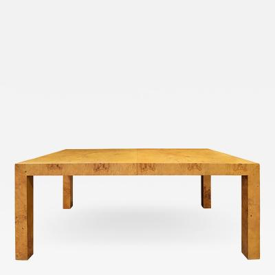 Milo Baughman Milo Baughman Extension Dining Table in Olive Burl 1960s