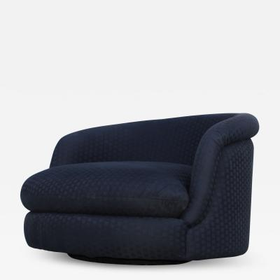 Milo Baughman Milo Baughman For Thayer Coggin Large Swivel Lounge Chair