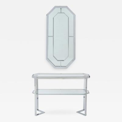 Milo Baughman Milo Baughman For Thayer Coggin Octagonal Mirror With Matching Console