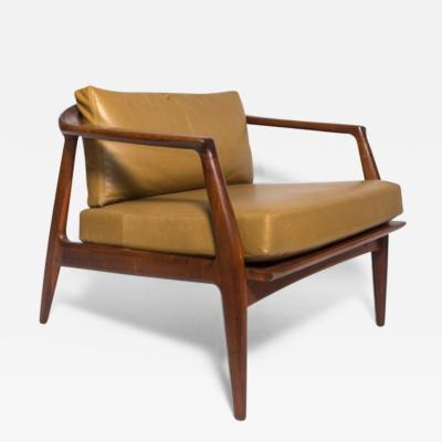 Milo Baughman Milo Baughman Leather and Walnut Lounge Chair 1960 s