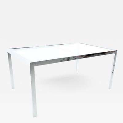Milo Baughman Milo Baughman Mid Century Chrome Expanding Dining Table