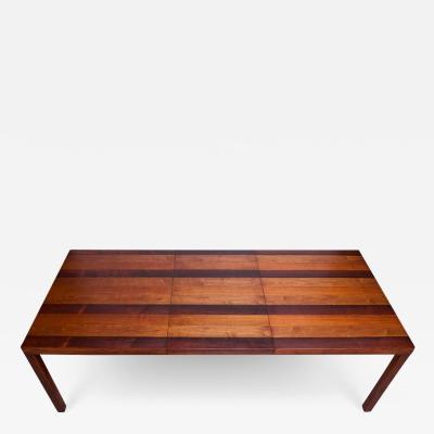 Milo Baughman Milo Baughman Mixed Wood Expandable Dining Table for Directional