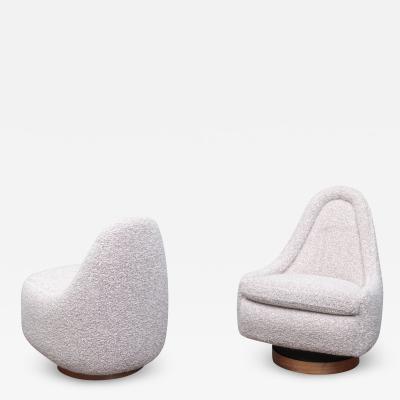 Milo Baughman Milo Baughman Petite Swivel and Tilt Lounge Chairs
