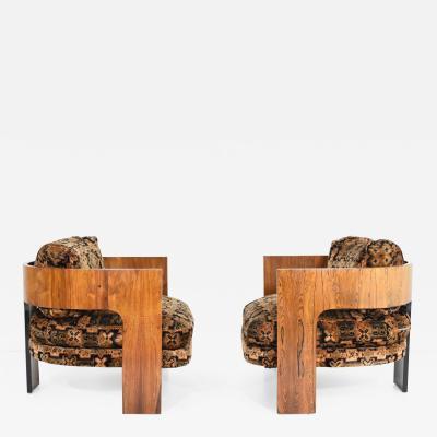 Milo Baughman Milo Baughman Rosewood T Frame Chairs 1969