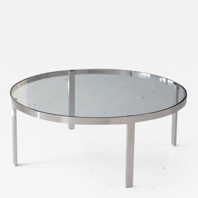 Milo Baughman Milo Baughman Round Chrome and Glass Coffee Table