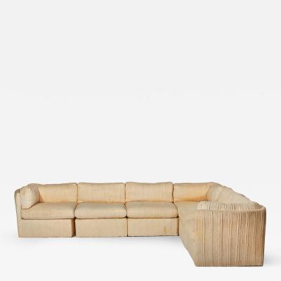 Milo Baughman Milo Baughman Scalloped Back Sectional Sofa