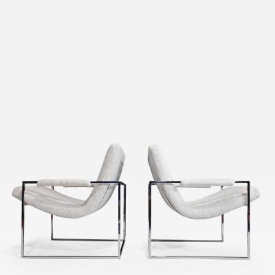 Milo Baughman Milo Baughman Scoop Chairs in Holly Hunt Performance Fabric
