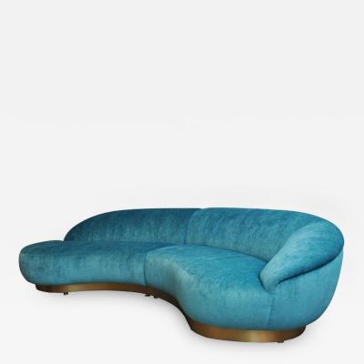 Milo Baughman Milo Baughman Sectional Sofa on Brushed Bronze Base