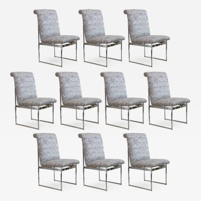 Milo Baughman Milo Baughman Set of Ten Dining Chairs