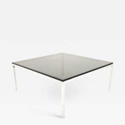 Milo Baughman Milo Baughman Style Mid Century Chrome and Smoked Glass Coffee Table