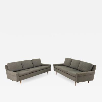 Milo Baughman Milo Baughman Style Mid Century Custom Sofa Pair