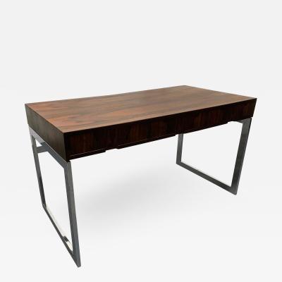 Milo Baughman Milo Baughman Style Rosewood and Chrome Desk