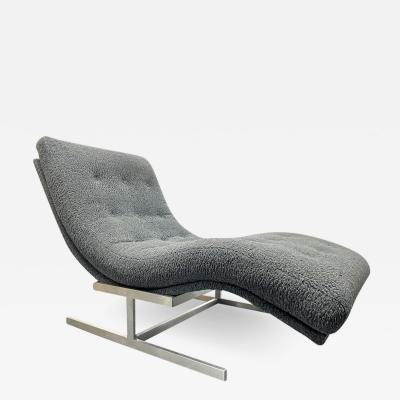 Milo Baughman Milo Baughman Style Wave Chaise Lounge