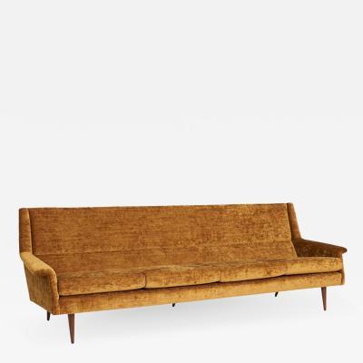 Milo Baughman Milo Baughman Walnut Leg Sofa