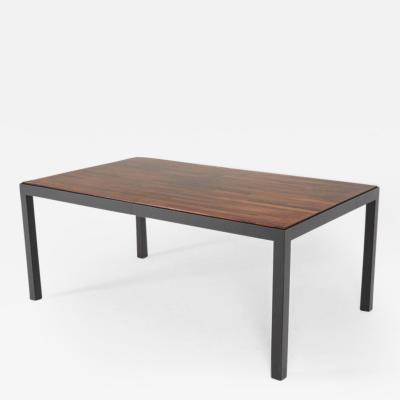 Milo Baughman Milo Baughman for Directional Exotic Mixed Woods Dining Table Restored
