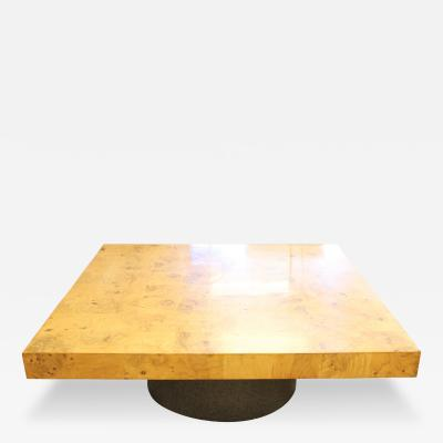 Milo Baughman Milo Baughman for Thayer Coggin Burl Wood Coffee Table