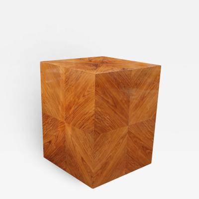 Milo Baughman Milo Baughman for Thayer Coggin Rosewood Book matched Side End Table Pedestal