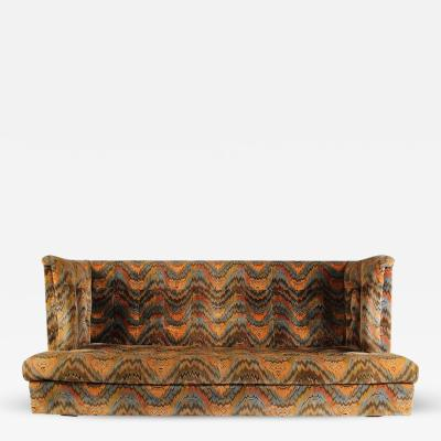 Milo Baughman Milo Baughman for Thayer Coggin Shelter Sofa with Treasure Chest Ottomans