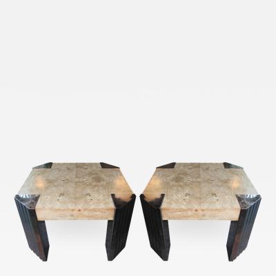 Milo Baughman Pair Milo Baughman Side Tables