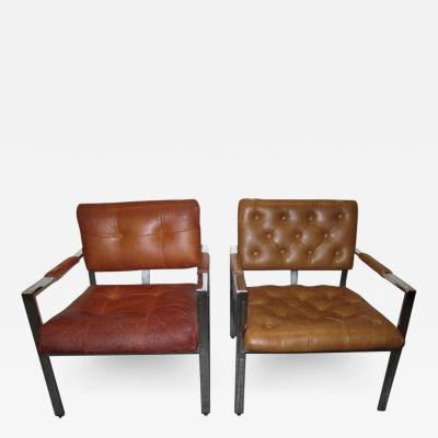 Milo Baughman Pair Milo Baughman Thayer Coggin Lounge Chairs Mid century Modern