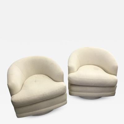 Milo Baughman Pair Of Milo Baughman Swivel Chairs