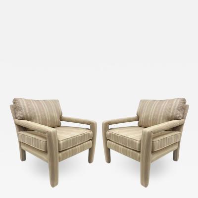 Milo Baughman Pair of Milo Baughman Style Lounge Chairs