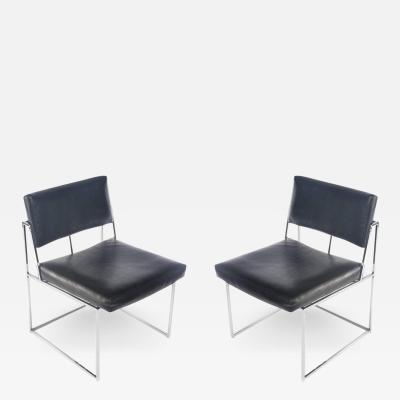 Milo Baughman Pair of Milo Baughman for Thayer Coggin Side Chairs circa 1970s