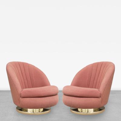 Milo Baughman   Pair Of Milo Baughman For Thayer Coggin Tilt And Swivel  Chairs