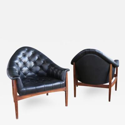 Milo Baughman Pair of Tub Chairs by Milo Baughman