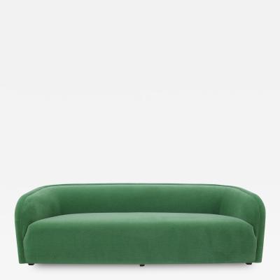 Milo Baughman Post Modern Barrel Back Sofa