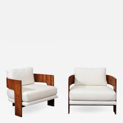 Milo Baughman Remarkable Pair of Modern Emperors Chairs by Milo Baughman circa 1966