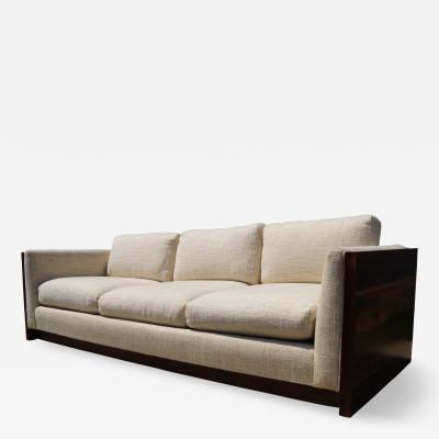 Milo Baughman Rosewood Three Seat Case Sofa by Milo Baughman for Forecast