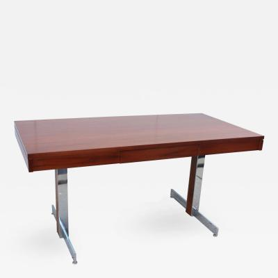 Milo Baughman Rosewood and Chrome Desk