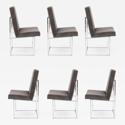 Milo Baughman SET OF 6 MILO BAUGHMAN FOR THAYER COGGIN DINING CHAIRS CIRCA 1980