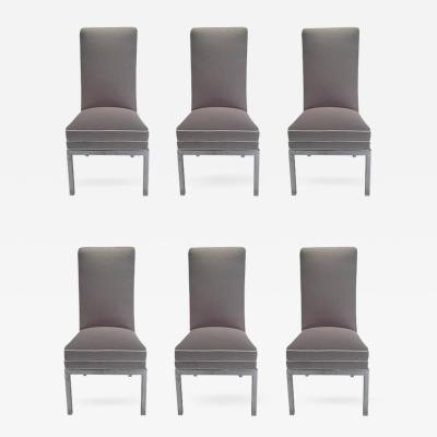 Milo Baughman Set of 6 Mid Century Modern Newly Upholstered Chrome Dining Chairs for DIA